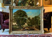 Huge Fabulous 19thc Continental Farming Country Landscape Oil Painting (2 of 19)