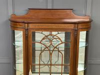 Inlaid Mahogany Display Cabinet by Jas Shoolbred (6 of 14)
