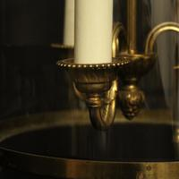 French Convex Gilded Triple Light Antique Lantern (5 of 10)