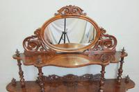 Antique Victorian Burr Walnut Display Whatnot Side Cabinet (3 of 13)