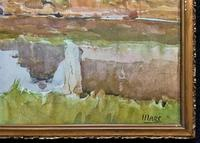 Gorgeous Early 20th Century Country River Hamlet British Landscape Watercolour Painting (11 of 12)