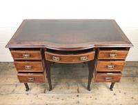 Edwardian Inlaid Mahogany Desk with Leather Top (9 of 11)