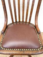 Early 20th Century Antique Oak Swivel Desk Chair (5 of 10)