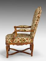 Pair of Well Carved Louis XV Period Fauteuils (4 of 6)