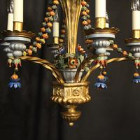Florentine 6 Light Polychrome Antique Chandelier (6 of 10)