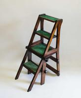 Victorian Metamorphic Oak Library Step Chair (5 of 13)