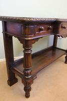 Antique Oak Victorian Shaped Sideboard Server (4 of 15)
