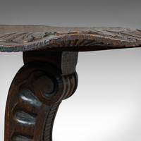 Pair of Antique Side Tables, Asian, Elm, Occasional, Wine Stand, Victorian, 1900 (10 of 11)