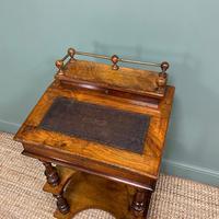 Stunning Victorian Walnut Antique Davenport Whatnot (3 of 10)