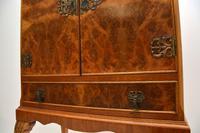 Queen Anne Style Burr Walnut Cocktail Cabinet c.1930 (5 of 11)