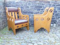 Pair of Arts & Crafts Chairs - Goodyers (2 of 9)