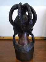 Ebonised African Tribal Tree Carving (3 of 8)