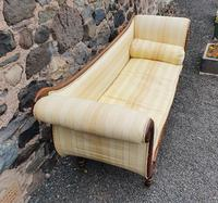 Large Regency Brass Inlaid Scroll End Sofa (5 of 9)