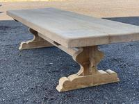 Huge French Bleached Oak Farmhouse Dining Table (12 of 34)