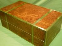 Exceptional FULLY Brass Bound Amboyna Writing Box c.1850 (13 of 15)