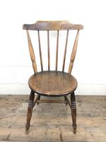 Set of Four Victorian Elm Penny Chairs (M-1317) (6 of 11)