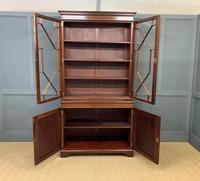 Good Edwardian Inlaid Mahogany Bookcase (3 of 16)