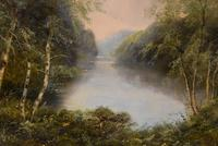 """Oil Painting Pair by F. Walters """"Spring on the Severn, Ringwood"""" """"Autumn, Ringwood"""" (8 of 10)"""