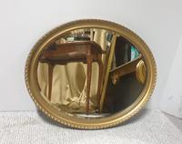 Edwardian  Oval Gilt Wall Mirror (5 of 5)