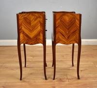 Pair of Louis XVI Style Marquetry Inlaid Bedsides Cabinets (4 of 8)