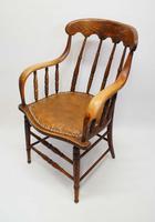 Edwardian Oak Bentwood Office Chair (3 of 11)