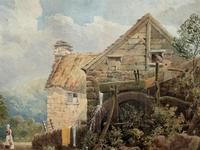 William Charles Goddard (exh.1885) Stunning Country Watermill Landscape Painting (5 of 15)