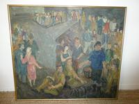 Scottish 1940s Wartime Oil Painting (7 of 7)