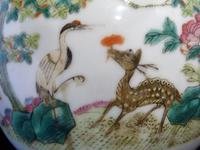 "Superb 19th Century Chinese ""Deer & Crane"" Teapot with Signed Silver Mounts (9 of 12)"