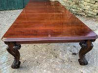 Very Large Victorian Extending Dining Table in Mahogany (10 of 17)