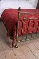 Attractive All Brass Original Victorian King Size Bed (7 of 8)