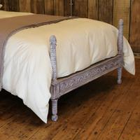 Upholstered Antique Bed with Painted Frame (6 of 8)