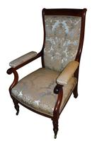 Rosewood Button Back William IV Library Chair c.1835 (2 of 2)