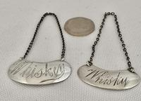 Two Sterling Silver Whiskey & Whisky Labels (5 of 5)