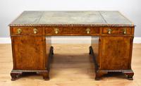 Antique Burr Walnut Partners Desk (8 of 18)