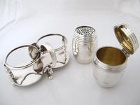 Fab Quality Victorian Silver Condiment Set George Fox London 1877 (8 of 12)