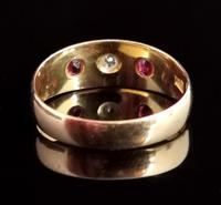 Antique Ruby & Diamond Gypsy Set Ring, 18ct Yellow Gold (8 of 10)