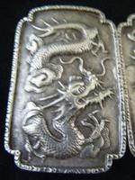 Fine Chinese Silver Buckle # 3 - Dragons , Signed TC (4 of 5)