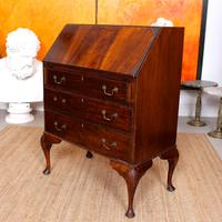 Edwardian Mahogany Bureau Writing Desk (7 of 9)