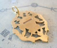 Antique Pocket Watch Chain Fob 1890s Victorian 12ct Rose Gold Filled Shield Fob (4 of 6)