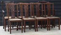 Good Quality Set of Eight Georgian Style Mahogany Dining Chairs '8 Chairs'.