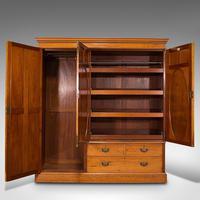 Antique Master Bedroom Wardrobe, Satinwood, Cupboard, Maple & Co, Edwardian (3 of 12)