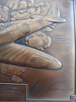 Bronzed Metal Calendar Signed Alex Henshaw MBE 1941 (9 of 13)
