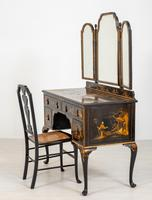 Queen Anne Style Chinoiserie Dressing Table & Chair (9 of 22)
