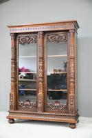 Anglo Indian Carved Rosewood Glazed Cabinet (2 of 14)