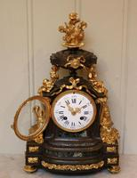 French Louis XVI Style Parcel-Gilt Bronze Mantel Clock (11 of 18)