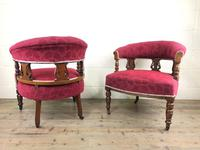 Pair of Victorian Mahogany Upholstered Tub Chairs (14 of 15)