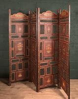 Handpainted Moroccan 4 fold screen (7 of 19)