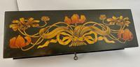 Superb Art Nouveau Pen & Ink Decorated Box (8 of 10)