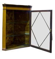 Fine Quality Edwardian Glazed Satinwood Corner Cabinet