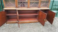 Quality Mahogany Breakfront Library Bookcase made by G T Rackstraw (5 of 6)